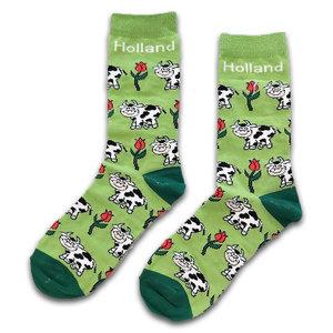 Holland sokken Herrensocken - Kühe und Tulpen
