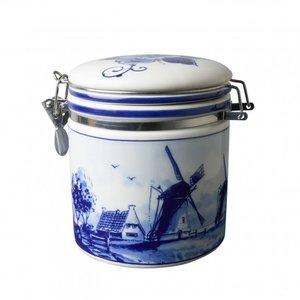 Heinen Delftware Delft blue preserving pot - Mill