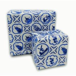 Typisch Hollands Rolle Delfter blaues Geschenkpapier