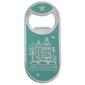 Typisch Hollands Magnetic opener - Dutch Classics - Green - Amsterdam bridge