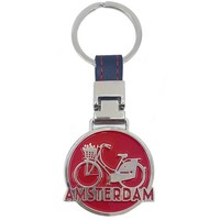 Typisch Hollands Amsterdam Keychain Red on strap - Bicycle