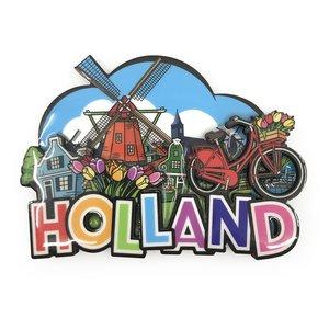 Typisch Hollands Magnet Comic Holland Mühle