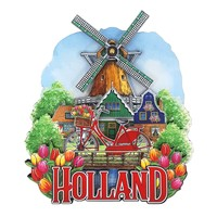Typisch Hollands Magnet Holland Fahrradmühle mit rotierender Klinge