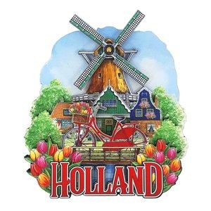 Typisch Hollands Magnet Holland Fahrradmühle mit rotierendem Docht
