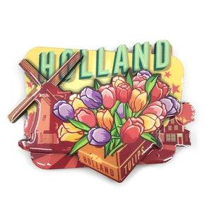 Typisch Hollands Magnet Vintage Holland Tulpen