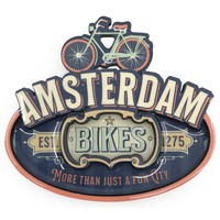 Typisch Hollands Magnet vintage Amsterdam bikes blue