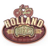 Typisch Hollands Magnet Vintage Holland Bikes Red