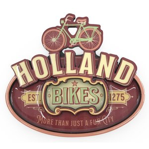 Typisch Hollands Magneet Vintage Holland Bikes Red