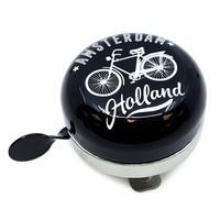 Typisch Hollands Fahrradglocke Amsterdam - Schwarz / Weiß - Fahrraddekoration
