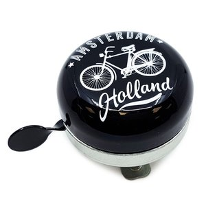 Typisch Hollands Bicycle bell Amsterdam - Black / White - Bicycle decoration