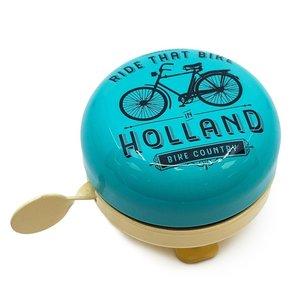 Typisch Hollands Fietsbel Amsterdam -Blauw -Fietsdecoratie