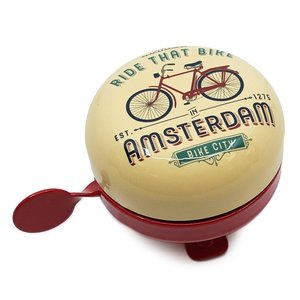 Typisch Hollands Fietsbel Amsterdam -Vintage - Fietsdecoratie