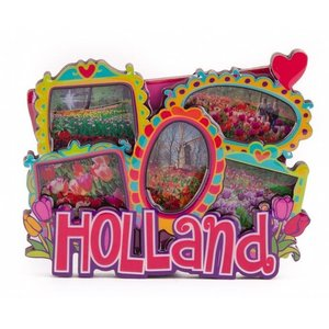 Typisch Hollands Magneet 2D MDF met  foto's love Holland