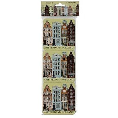 Typisch Hollands Untersetzer Fassadenhäuser - Amsterdam - Holland