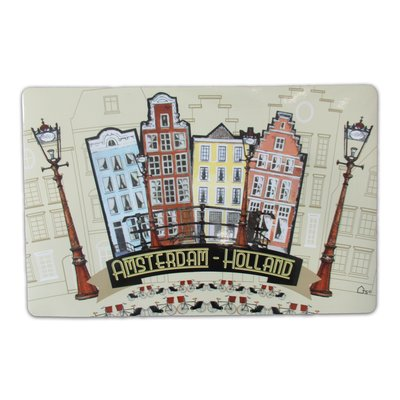Typisch Hollands Placemat Amsterdam facade houses - Bicycles