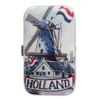 Typisch Hollands Maniküre Set Delft blau - Windmühle (niederländische Flagge)