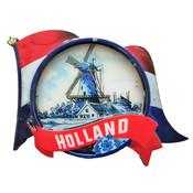 Typisch Hollands Magneet - Nederlandse vlag - Molenlandschap