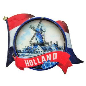 Typisch Hollands Magnet - Dutch flag - Windmill landscape