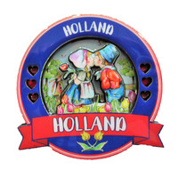 Typisch Hollands Magnet Holland Round - Paar küssen