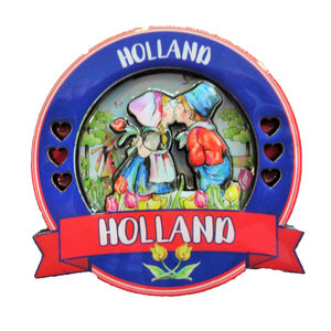 Typisch Hollands Magnet Holland Round - Kissing couple