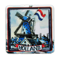 Typisch Hollands Spiegelbox Holland Windmühle - Rot-Weiß-Blau