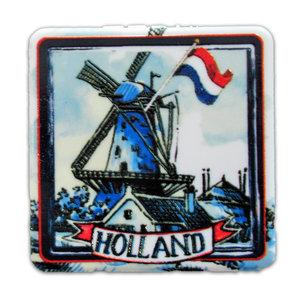 Typisch Hollands Spiegeldoosje Holland molen - Rood-Wit-Blauw