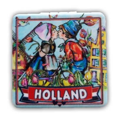 Typisch Hollands Mirror box Holland - Kiss couple