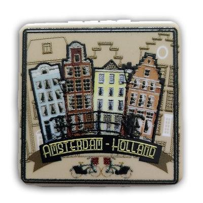 Typisch Hollands Spiegeldoosje Gevelhuisjes Holland - Amsterdam