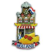 Typisch Hollands Magneet gevelhuisje - Klompen-Shop