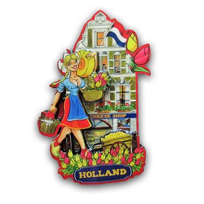 Typisch Hollands Magneet gevelhuisje - Kaas Shop