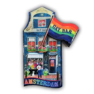 Typisch Hollands Magneet gevelhuisje - Gay bar
