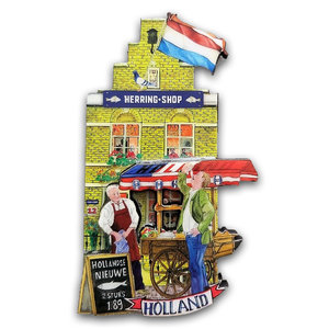 Typisch Hollands Magneet gevelhuisje - Haring Shop