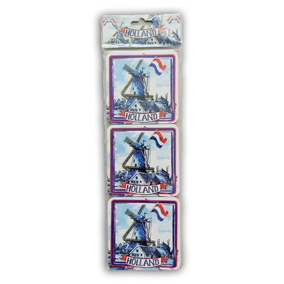 Typisch Hollands Coasters 6 pieces - Windmills - Holland