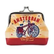 Typisch Hollands Clipping Brieftasche Fahrrad - Amsterdam - Vintage