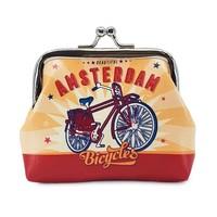 Typisch Hollands Knip-portemonnee Fiets- Amsterdam - Vintage