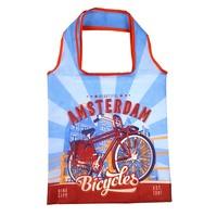 Typisch Hollands Faltbare Tasche Amsterdam Vintage blau