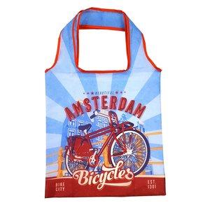 Typisch Hollands Opvouwbaar tasje Amsterdam Vintage blauw