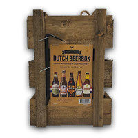 Typisch Hollands Dutch Beerbox (wooden box with crowbar)