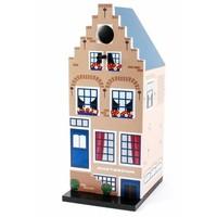 Typisch Hollands Vogelhaus Amsterdam (gestufter Giebel)