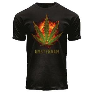 Holland fashion T-Shirt Black - Burning Kush A'dam