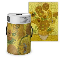 Typisch Hollands Puzzel in koker - Vincent van Gogh - Zonnebloemen