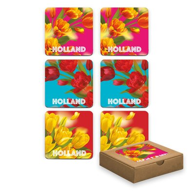 Typisch Hollands Coasters - Tulips - Colorful Spring