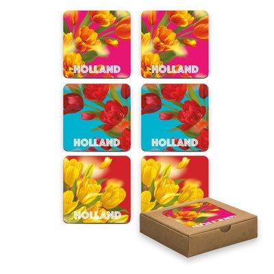 Typisch Hollands Untersetzer - Tulpen - bunter Frühling