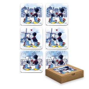 Typisch Hollands Coasters Holland - Kiss couple
