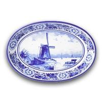 Typisch Hollands Serveerschaal (ovenschaal)Delfts Blauw