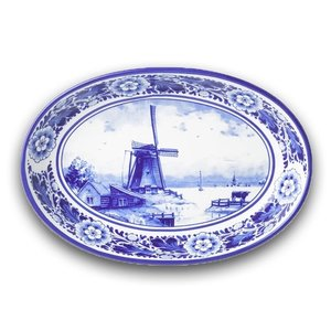 Typisch Hollands Servierplatte (Auflaufform) Delft Blue