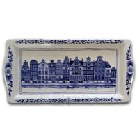 Typisch Hollands Delfter blauer Kuchenform - Fassadenhäuser (Kanalgürtel)