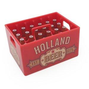 Typisch Hollands Magnetische opener - Bierkratje - Dutch Classics - Holland - Rood
