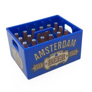 Typisch Hollands Magnetische opener - Bierkratje - Dutch Classics - Amsterdam-Blauw