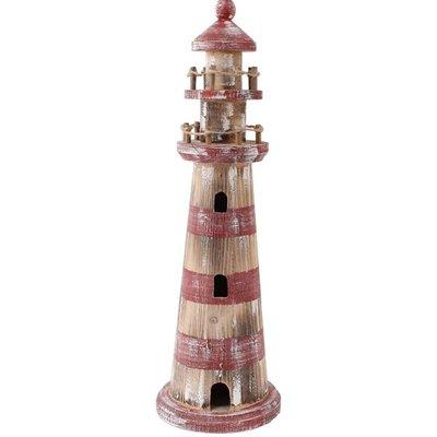 Typisch Hollands Leuchtturm rot / weiß gewaschen 46cm